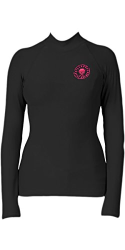 BILLABONG 2017 Ladies Logo In Long Sleeved Rash Vest in Black Sands C4GY02 Size - - Small -