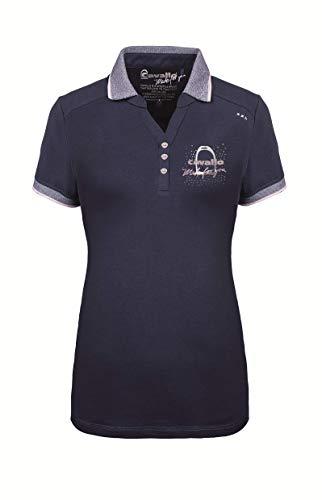 Cavallo Damen-Polo-Shirt, Kurzarm Naomi, darkblue, 46