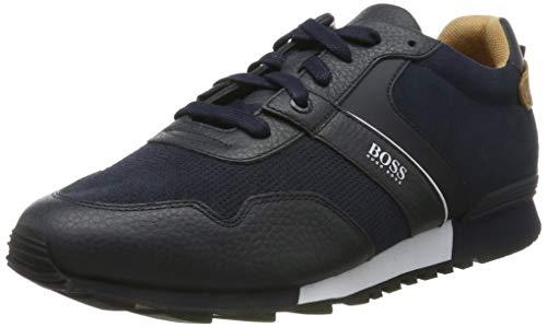 BOSS Herren Parkour_Runn_sdtb Sneaker, Blau (Dark Blue 401), 39 EU
