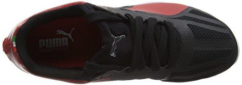 Puma Evospeed Sock Sf, Baskets Basses Mixte Adulte Noir (Black/Red 01)