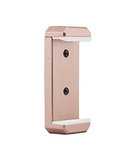 Preisvergleich Produktbild Owoda 2 in 1 Handy / Tablette Verlängerter Halter Clip Alle Metall verstellbaren Stand Kopf Für Monopod Stativ / DJI Phantom 3S FPV Monitor Halterung (nur Clip) (Handy Clip-Rose Gold)