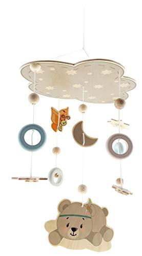 Filzball Mobile Kinderzimmerdecke Mobile Windspiele Bettglocke Rassel Spielzeug H/ängende Verzierungen f/ür Baby lets make Babybett Mobile Lila