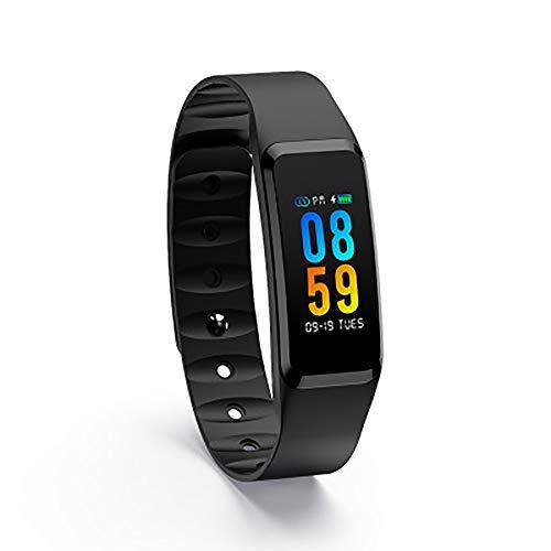 Y&SJ Fitness Tracker, Wasserdichtes Smart Armband Kalorienzähler Aktivitäts Tracker Uhr Herzfrequenz Schlaf Monitor - Für Ios Android,Schwarz
