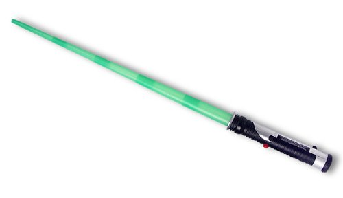 Qui-Gon Jinn Lichtschwert, Laserschwert, Kostüm/Deco Leutchtschwert grün mit Licht, Star Wars
