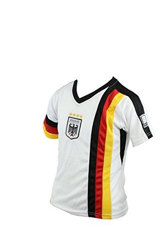 GERMANY DEUTSCHLAND Kinder-Trikot Mesh-Einsätzen, weiß/schwarz, Gr. 134-140