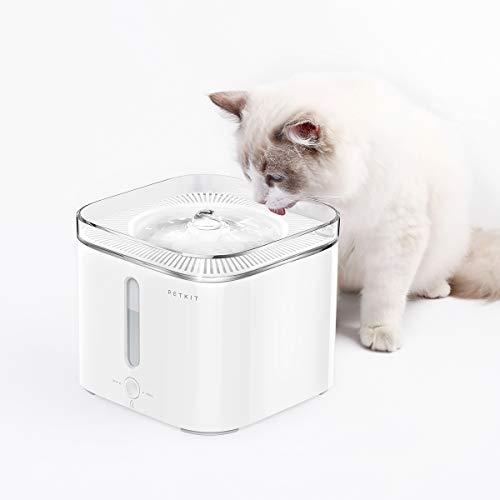 PETKIT Katzen Hunde Smart Trinkbrunnen, Filterwechselalarm, Wasser Mangel Alarm, Anti-Trocken, Automatische Haustier Wasserspender,2L (Weiß2.0) -