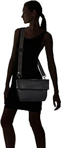 Mandarina Duck - Mellow Leather Tracolla, Shoppers y bolsos de hombro Mujer, Negro (Nero), 5x33x32 cm (B x H T) de Mandarina Duck