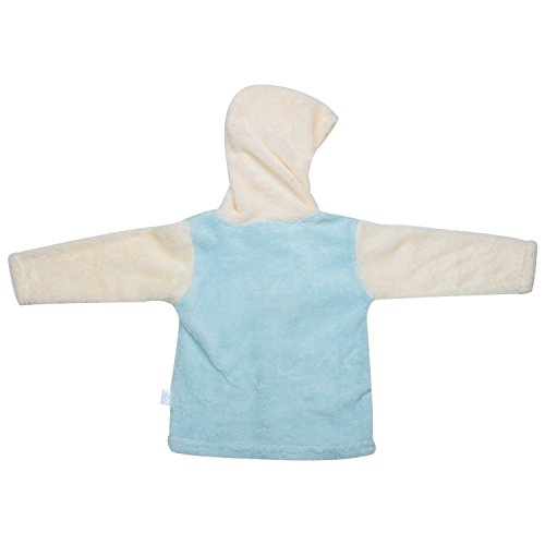 kandyfloss Kandy Floss Blue & Cream Fur Hood Jacket with Pant for Kid