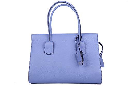 Tod's borsa donna a mano shopping in pelle nuova viola