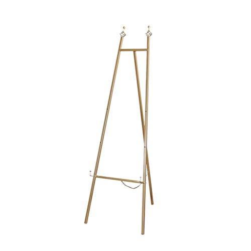 Zhou Or Portable Chevalet, Triangle Pliable Fer Forgé Support, Mariage Fer Art Cadre Photo Présentoir yan (Color : Gold, Size : 45 * 120cm)
