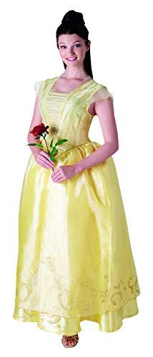 Halloweenia - Damen Frauen Belle Kostüm, Live Action Movie Dress Kleid, perfekt für Karneval, Fasching und Fastnacht, M, Gelb