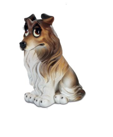 Comical Border Collie figurine