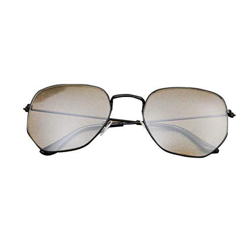 Junecat Männer Frauen Schlanke Metallrahmen Plain Gläser Retro Vintage Eyewear freies Objektiv Unregelmäßige Brillen