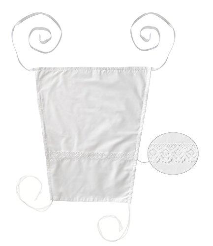 Vizaro - SONNENSEGEL / MARKISE zur Solarbeschützung für den BABYWAGEN - 100% Baumwolle - Hergestellt in der EU mit kontrolle gegen schädlichen substanzen - SICHERES PRODUKT: das baby kann ohne risiko daran lutschen - Weiße Stickerei