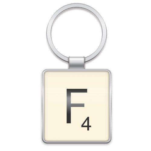 scrabble-lettera-piastrelle-portachiavi-lettera-f