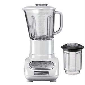 Kitchenaid 5KSB5553EWH - Licuadora, color blanco y transparente