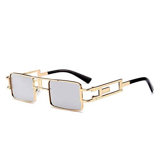 ZHAOSHUNAN Sonnenbrillen Sonnenbrille Steampunk Transparente Linse Brille Kleine Quadratische Damen Brille Weiblichen Schatten Sonnenbrille, J