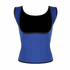 MISS MOLY Damen Neopren Schlankheitskur Sauna Corsage Korsett Bauchweg Training Taillenkorsett abnehmen Shirt Taillenformer