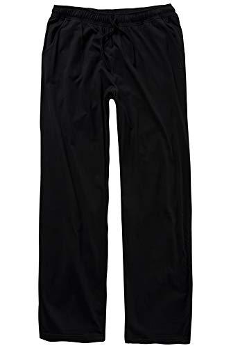 Bequeme Passform Pyjama (JP 1880 Herren große Größen bis 8XL, Pyjama-Hose aus 100% Baumwolle, Schlafanzug-Hose, Sweatpants mit elastischem Bund schwarz 4XL 708406 10-4XL)