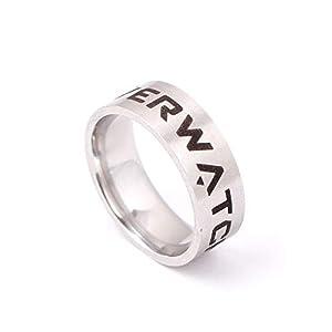 CAXYBB Ring Freies verschiffen Das Ring Spiel für Frauen World of Warcraft Ringe Overwatch Edelstahl männer us größe 7-13#Ring