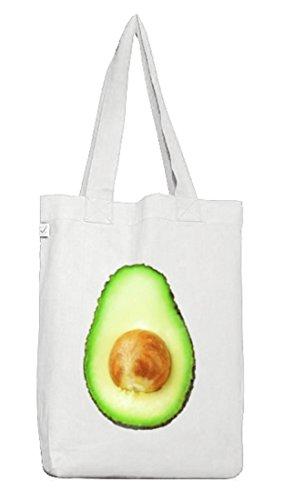 Avocado Kostüm Earth Positive Beutel für Freunde der bewussten Ernährung Fasching Karneval White