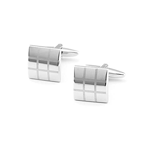 Geremen Stunning yellow Shades Silver Stainless Steel Men's Cufflinks XK01