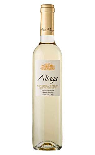 Aliaga Vendimia Tardía Muscat Petit Grain 2016 (Pack de 6 botellas). Vino blanco...