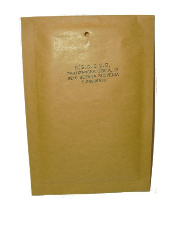 100 gpack buste imbottite per spedizioni colore avana con pluriball 1 / a - misure 100 x 165 - buste bolle aria - air bubble bags classic - buste postali 100 x 165 mm pezzi avana 11x16 busta postale imbottita
