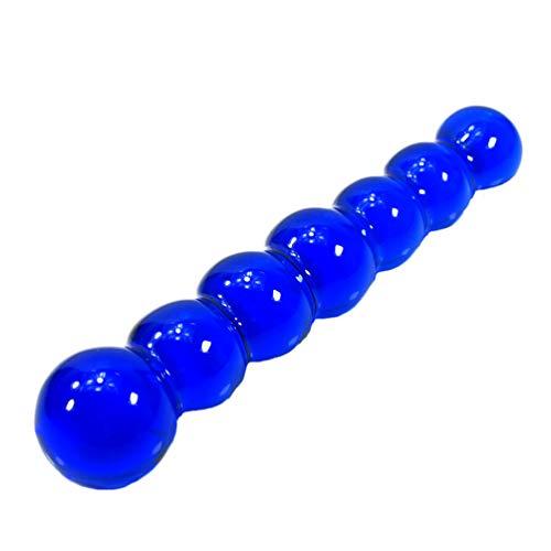 Anal Beaded Glass Dildo,150mm lang Analkette mit 7 Kugeln Analkugeln Analdildo Anal Butt Plug Analplug für Männer und Frauen