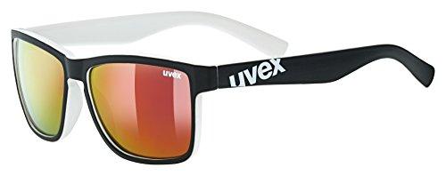 uvex Unisex- Erwachsene, lgl 39 Sonnenbrille, black mat white, one size