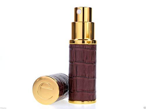 Atomiseur Essential Co Brown & Gold Croc 8ml Fragrance Sac à main / atomiseur Voyage, Rechargeable , Avec Entonnoir