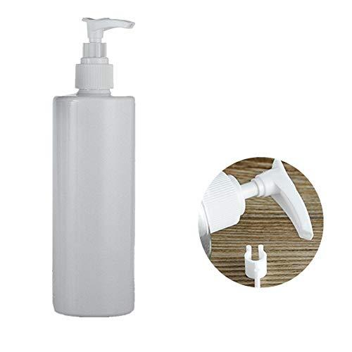 ZUOLUO Flache Schulter Lampe Flasche Lotion Pump Press Bottles Drücken Sie Die Pumpflasche Nachfüllbare Plastikflasche Emulsion Von Reisebehältern 350ml White -