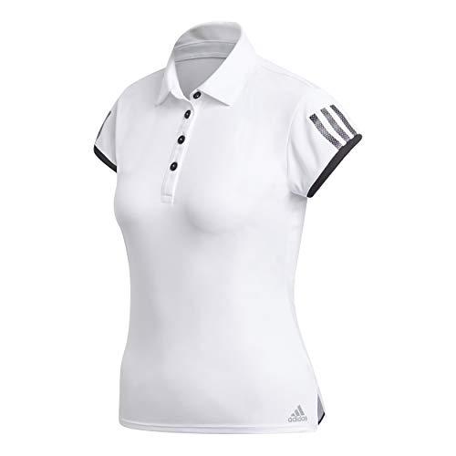 adidas Club 3-Stripes Polo de Tennis Femme, White, FR :...