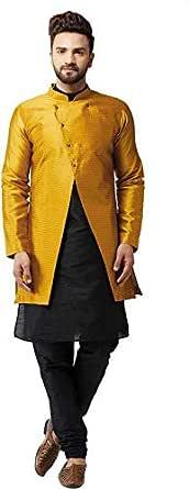 BENSTOKE Mens Silk blend kurta pajama and jacket set