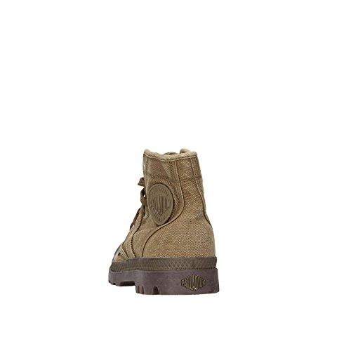 Palladium PALLABROUSE~DK OLIVE/DK GUM~M 02477-326-M Unisex-Erwachsene Schnürhalbschuhe Grün