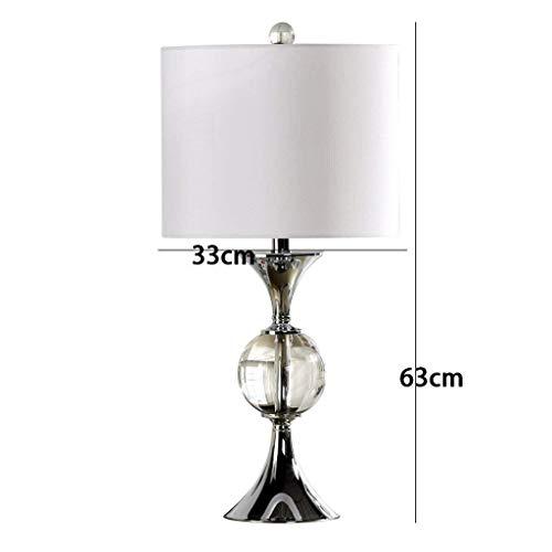 AOLI Tischlampe Kristall Lampe Moderne Wohnzimmer Lampe Schlafzimmer Nachttischlampe Continental Hochzeit K9 Kristall Lampe (Taste Schalter) Continental-taste