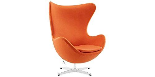 ac56dd6bc5bad0 Sessel Stuhl Retro DIXON EGG Gepolstert Armlehnenstuhl Kaschmir Design  Vetrostyle orange