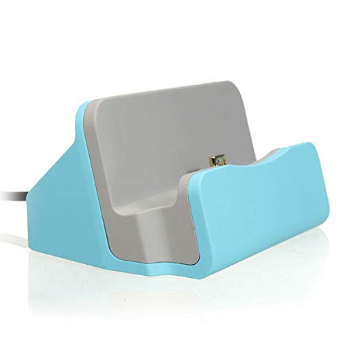 Anddod Micro USB Desktop Charger Sync Data Dock Cradle Stand Station for Tablet Cell Phone - Blue Desktop Charger Sync