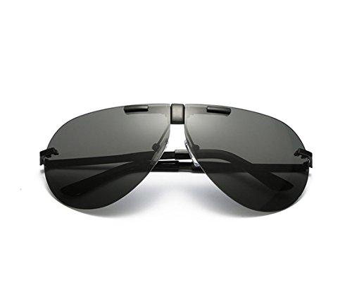 Klassische Aviator Polarisierte Sonnenbrille Leichte TAC Objektiv Legierung Rahmen unzerbrechliche Brillen 100% UV-Schutz für Männer Frauen (shwarz, grau)