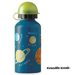 Gourde Enfant Crocodile Creek inox 400 ml haute qualité sans BPA - Bleu Système Solaire