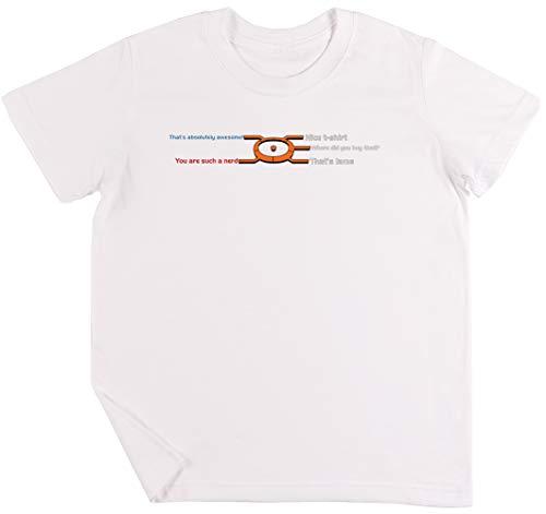 Konversation Rad Kinder Jungen Mädchen Unisex T-Shirt Weiß