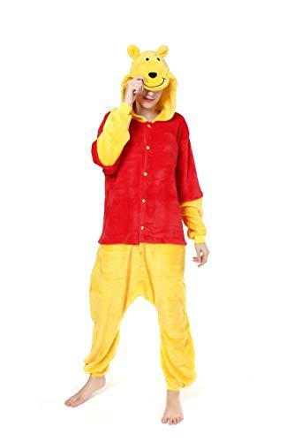 Winnie the pooh personaggi unisex, tuta per costume o pigiama