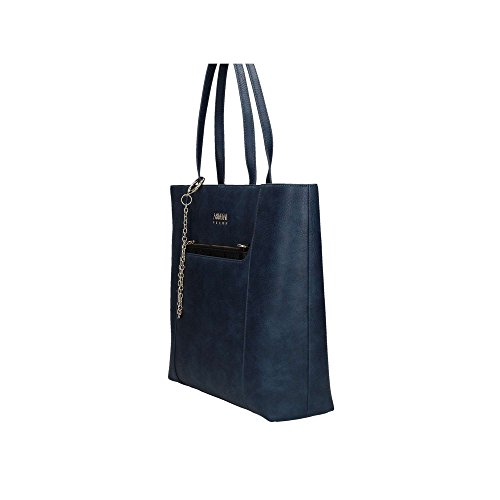 Armani Jeans Donna Borse a spalla 922302 7A802 09934 WOMENS SHOPPING BAG Blu