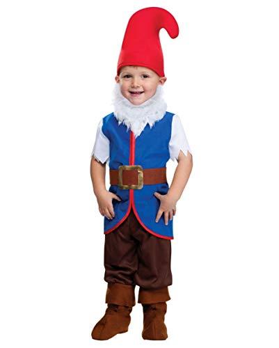 Horror-Shop Zwergen Kinderkostüm S (Kind Gnome Kostüm)