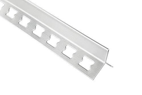 100 Meter Edelstahl Y-Form Kantenprofile Fliesenleisten gebürstet 12mm HEX130 SI
