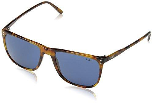Polo Ralph Lauren Unisex PH4102 Sonnenbrille, Braun (Havana 501780), One size (Herstellergröße: 55)