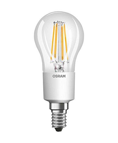 Osram LED Retrofit Classic P Lampe, Sockel: E14, Warm White, 2700 K, 6 W, Ersatz für 60-W-Glühbirne, 6er-Pack -