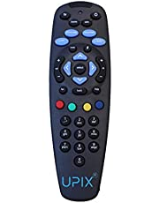 Upix® DTH Set Top Box Remote (Black) Without Recording Feature, Works for Tata Sky SD/HD/HD+/4K DTH Set Top Box Remote Control (Pairing Required to Sync TV Functions)
