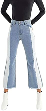 YIhujiuben Women's Pants Casual Loose Baggy Harem Jeans Regular Flares Slim P