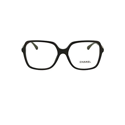 chanel Damen Brillengestell schwarz schwarz Einheitsgröße